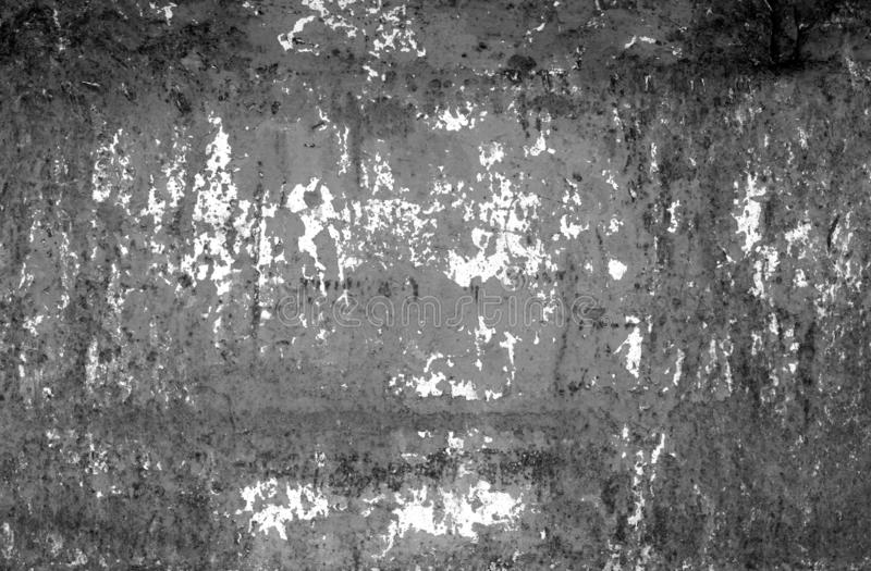 Grungy rusted metal wall texture in black and white royalty free stock photos