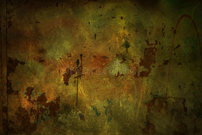Grungy wall background. Grungy rusty wall background or texture royalty free stock photo