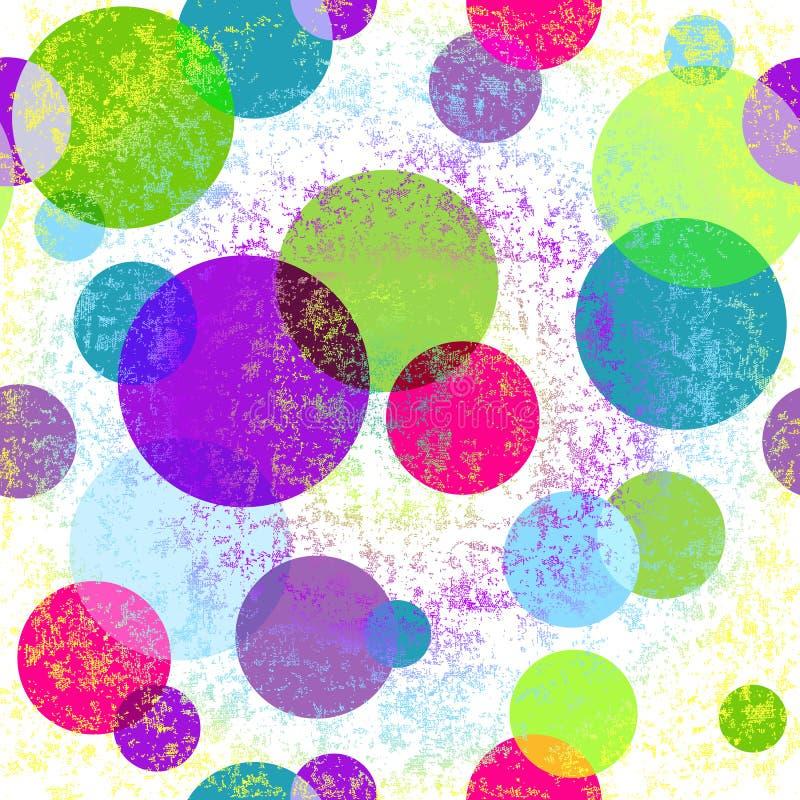 Grungy sömlös färgrik modell vektor illustrationer