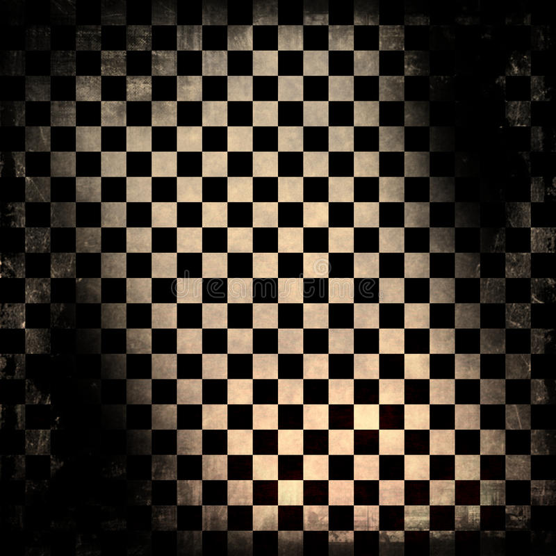 Grungy schaakbord stock illustratie