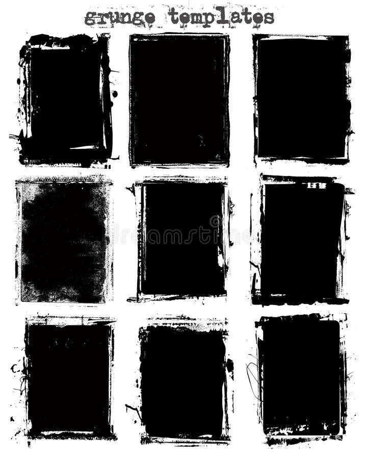 Grungy Schablonen lizenzfreie abbildung