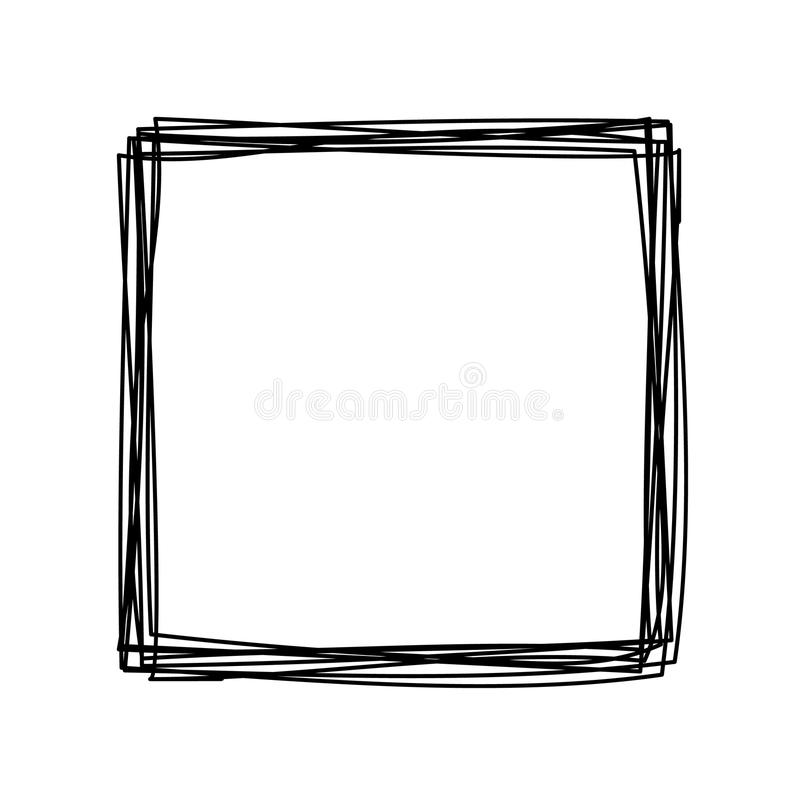 Grungy scribble square royalty free illustration