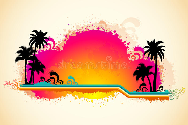 Download Grungy Sea Beach View stock vector. Illustration of isolated - 20041251