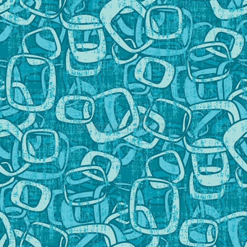 Grungy Seamless Retro Pattern stock illustration