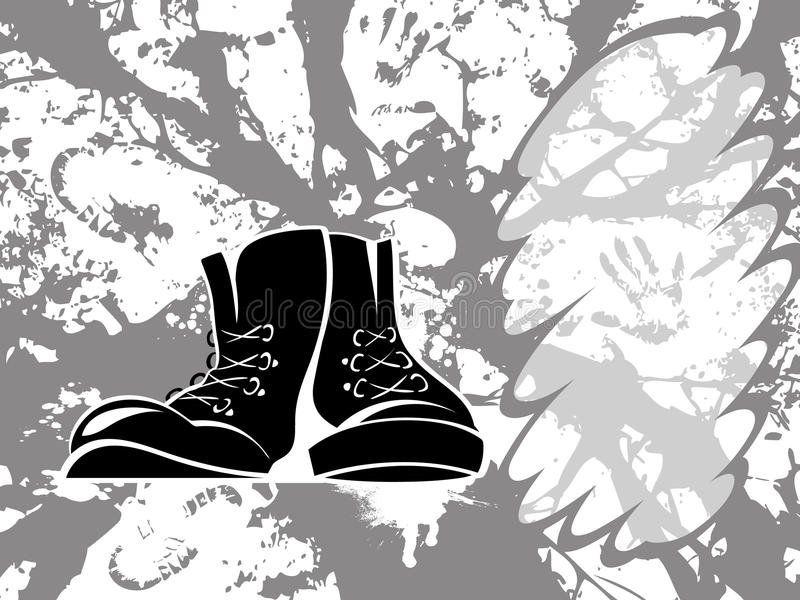 Download Grungy shoes stock vector. Illustration of contour, band - 23739425