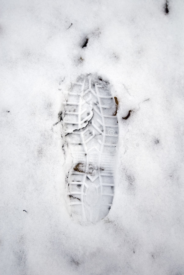Download Grungy snow footstep stock photo. Image of texture, foot - 7261456