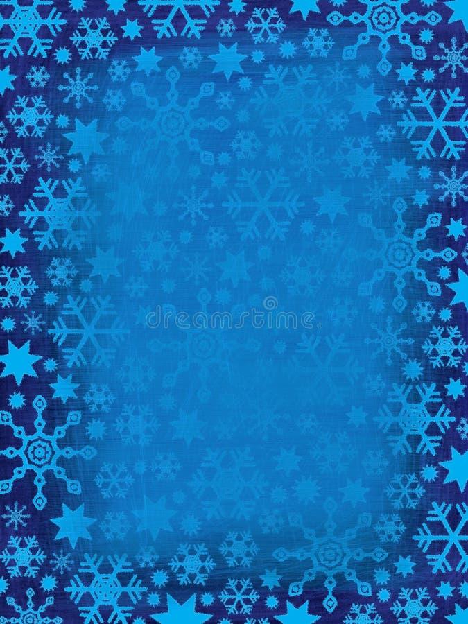 Grungy Snowflakes Border stock photography