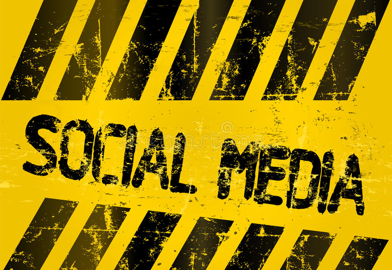 Download Grungy Social Media Sign Royalty Free Stock Photography - Image: 26546667
