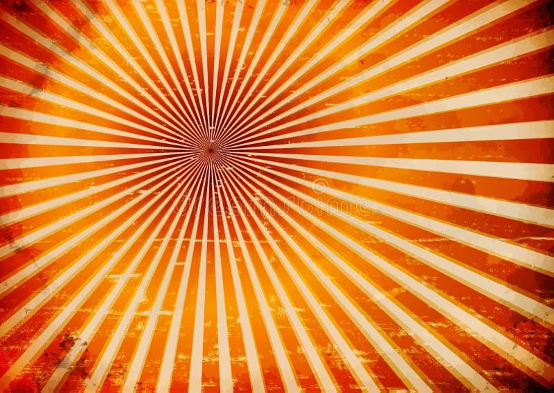 Grungy Sonnenstrahlen vektor abbildung