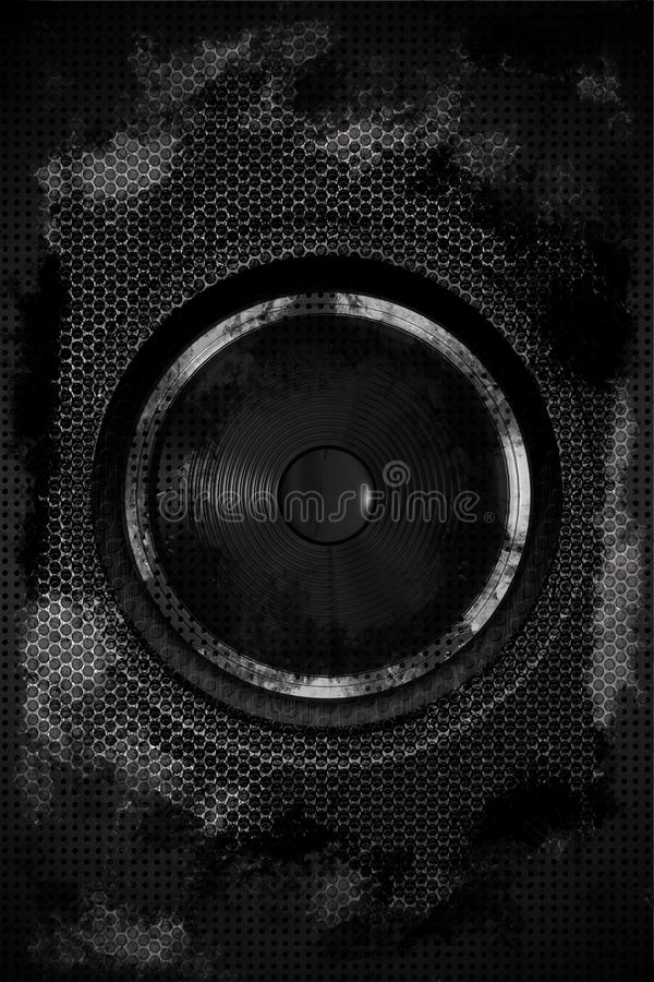 Download Grungy Speaker stock illustration. Image of circle, darkness - 24165451