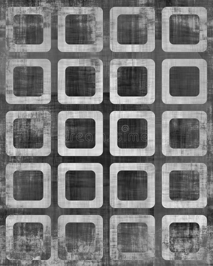 Grungy Squares Gallery royalty free illustration