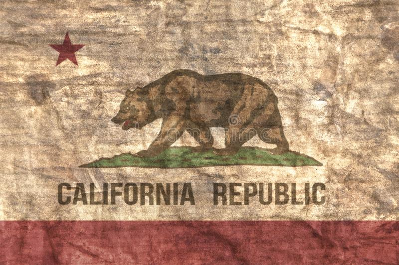 Grungy stan Kalifornia flaga obraz royalty free
