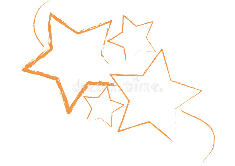 Grungy Stars Vector Stock Image