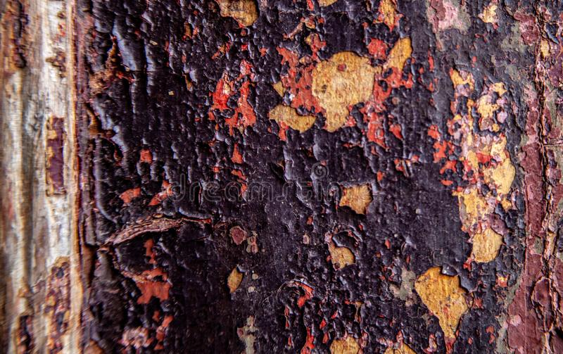 Grungy stary stajni drewno z zatartą farbą zdjęcie royalty free