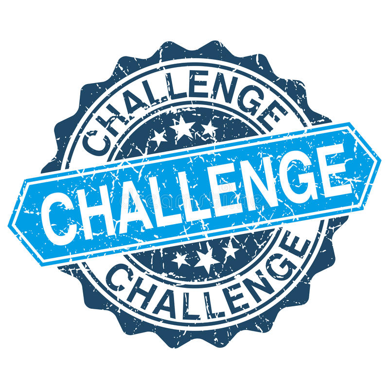 Grungy Stempel der Herausforderung lizenzfreie abbildung