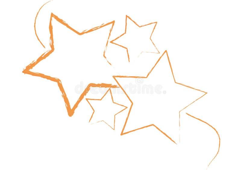grungy stjärnavektor royaltyfri illustrationer