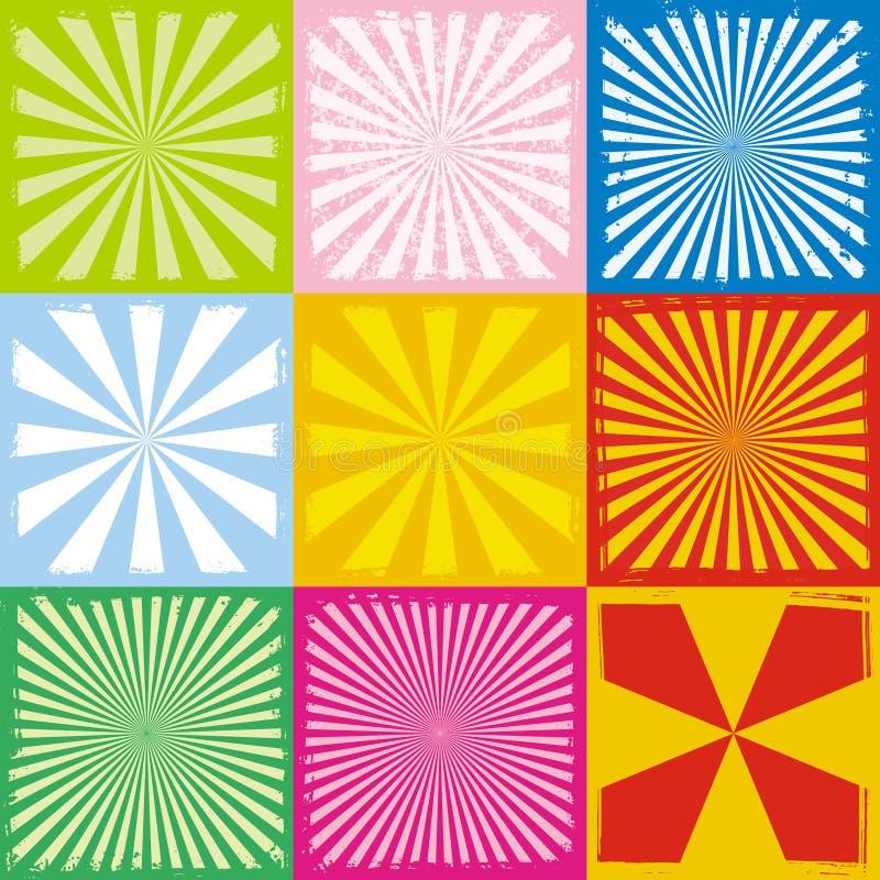 Grungy stralen vector illustratie
