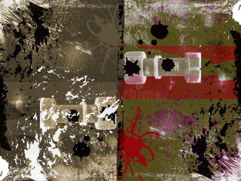 Grungy strukturierter abstrakter Hintergrund stock abbildung