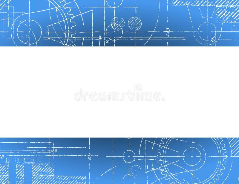 Blueprint Banner royalty free illustration