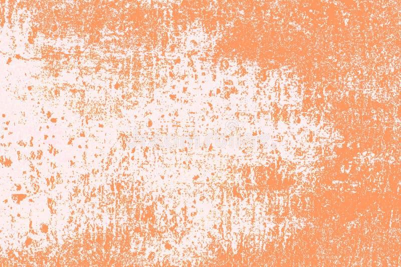 Grungy tekstury tła betonu obcieknięcia ściany brudu pomarańczowa szorstka powierzchnia zdjęcia stock