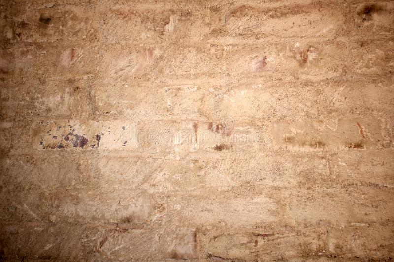 Grungy texture of painted brick wall stock photo