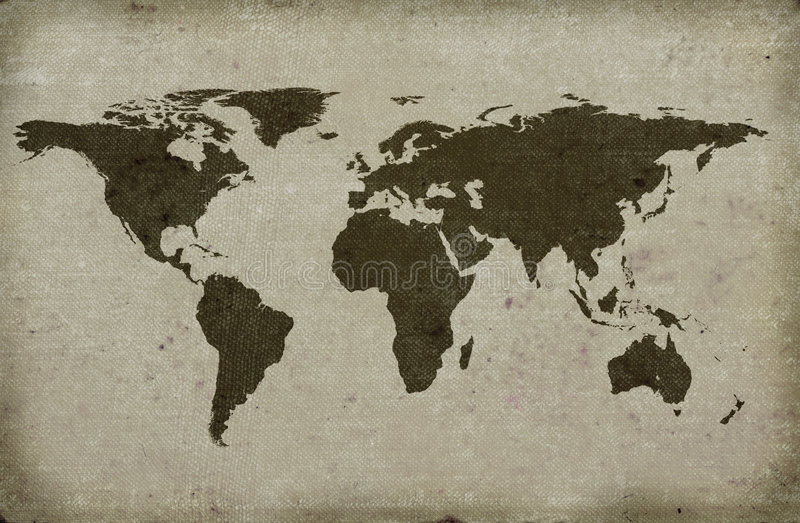Download Grungy Textured World Map Stock Photos - Image: 1703293
