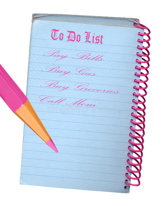 Download Grungy To Do List stock illustration. Illustration of object - 27482629