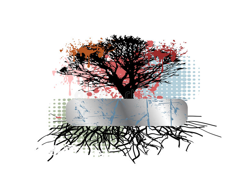 Download Grungy tree root stock vector. Image of black, design - 12899654