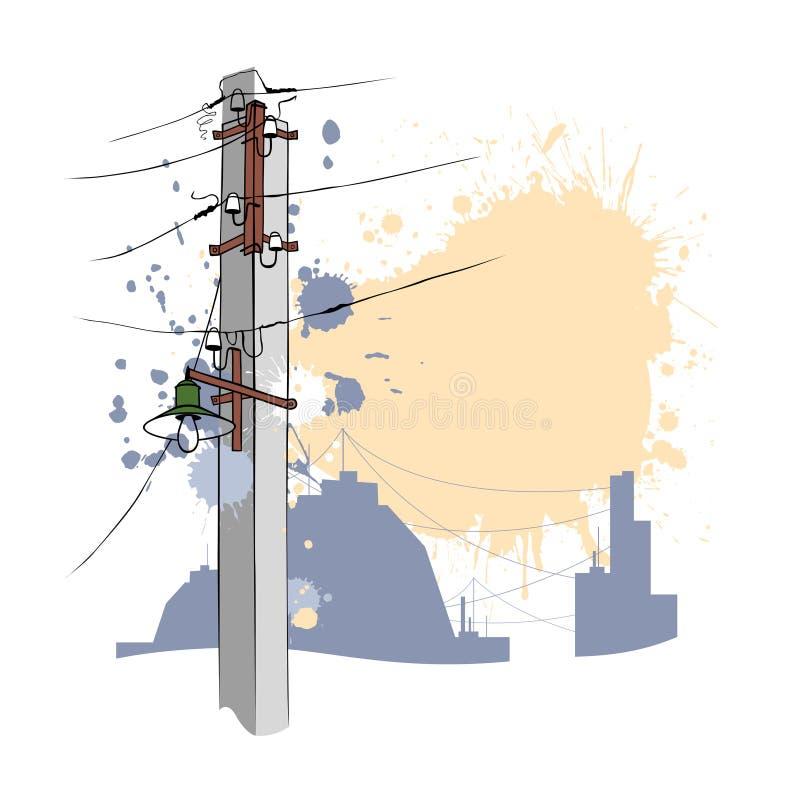 Download Grungy urban pillar 2 stock vector. Image of blob, spatter - 14280814