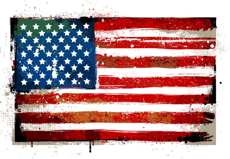 Grungy USA flag vector illustration