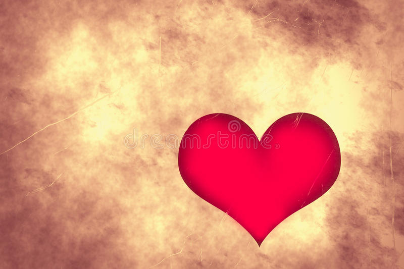 Grungy Valentines Day Love Heart royalty free illustration