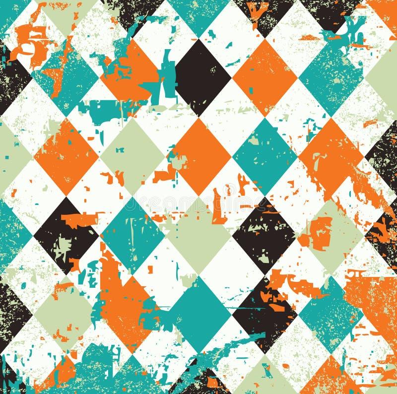 Grungy vector achtergrondillustratierooster stock illustratie