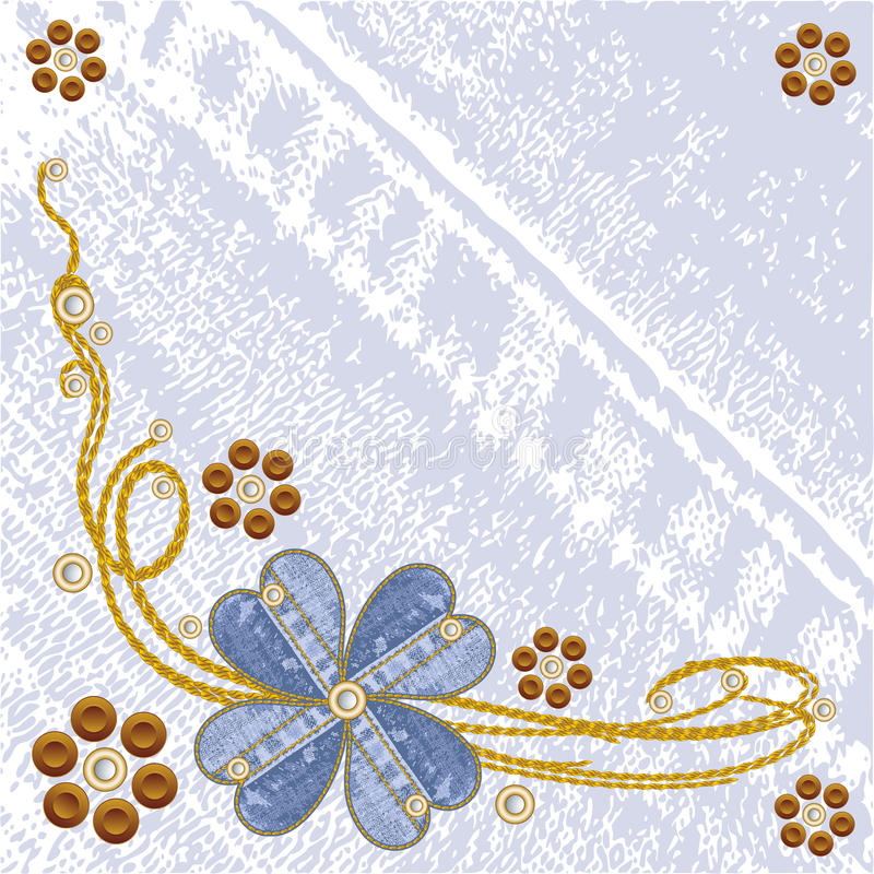 Download Grungy Vector Denim Floral Jeans Background. Stock Vector - Image: 20120542