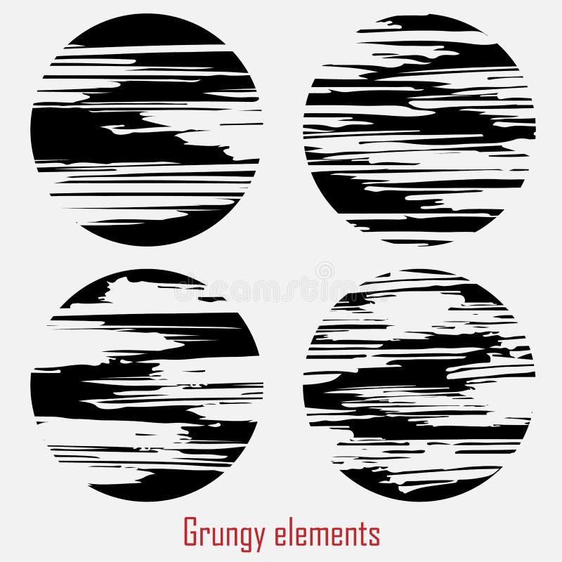 Grungy vectorreeks royalty-vrije illustratie