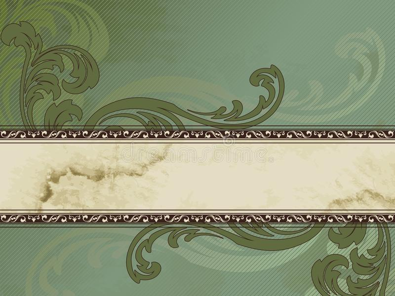 Grungy Victorian Vintage Banner, Horizontal Stock Image - Image ...