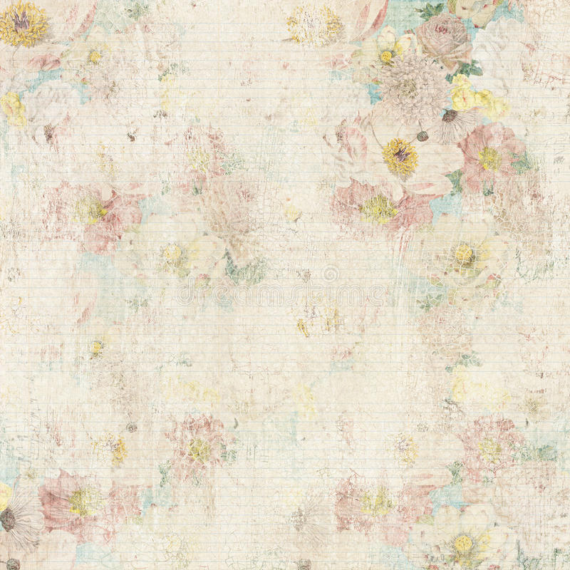 Free Grungy Vintage Floral Background Royalty Free Stock Photos - 38147838