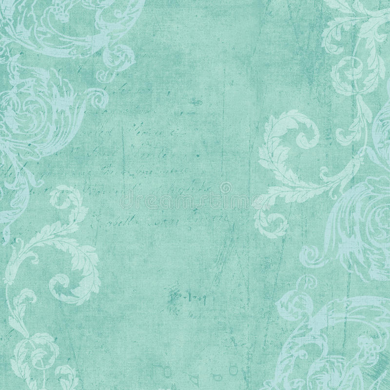 Grungy Vintage Flourished Floral Framed Background Royalty Free Stock Photography