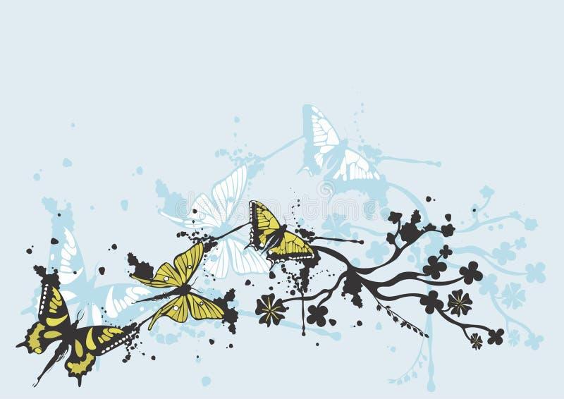 Grungy vlinders royalty-vrije illustratie