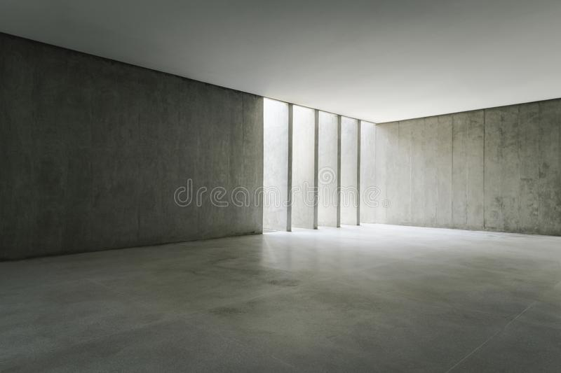 Empty concrete walls with lateral sunlight. royalty free stock photos