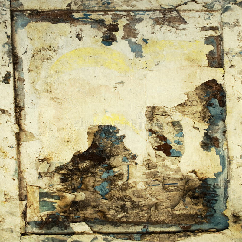 Grungy watercolor frames on handmade paper royalty free stock image