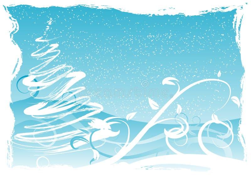 Grungy Weihnachtshintergrund lizenzfreie abbildung