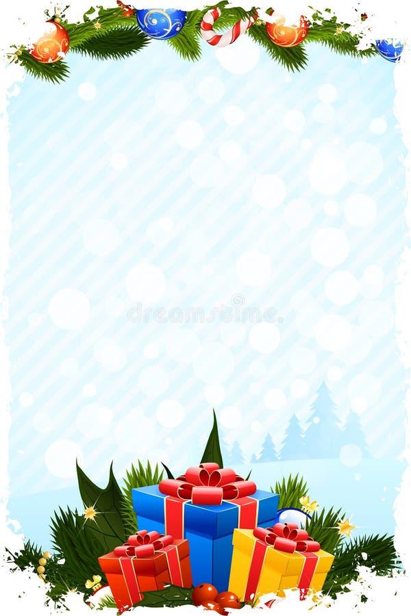 Grungy Weihnachtskarte lizenzfreie abbildung
