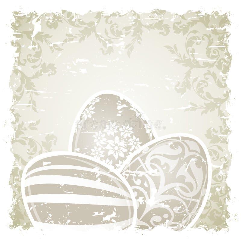 Grungy Wielkanocny tło z Dekorującymi jajkami ilustracji