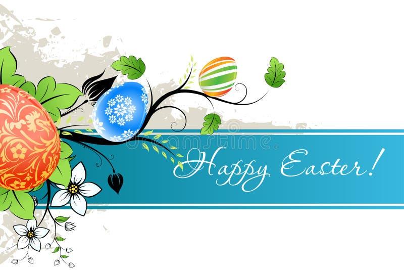 Grungy Wielkanocny tło z Dekorującymi jajkami royalty ilustracja
