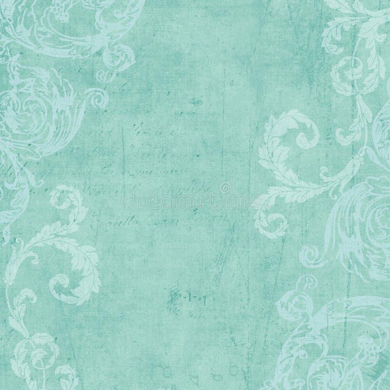 Grungy Wijnoogst bloeide bloemen frame achtergrond vector illustratie