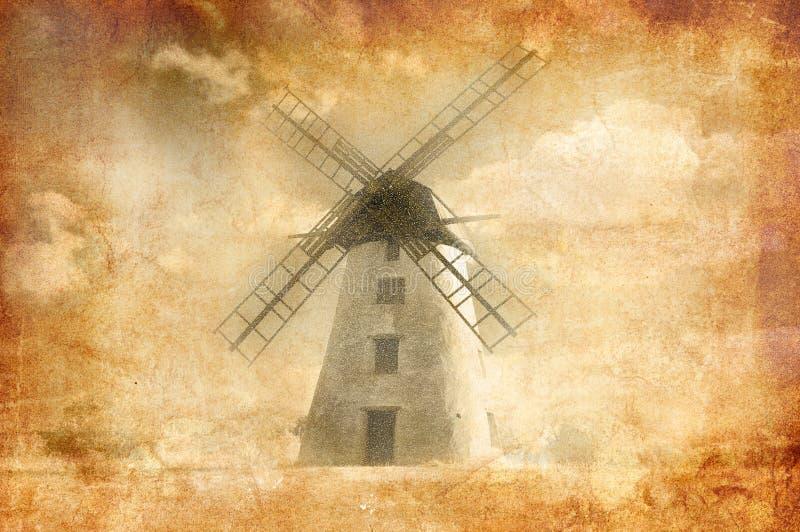 Grungy Windmühle stockfotos
