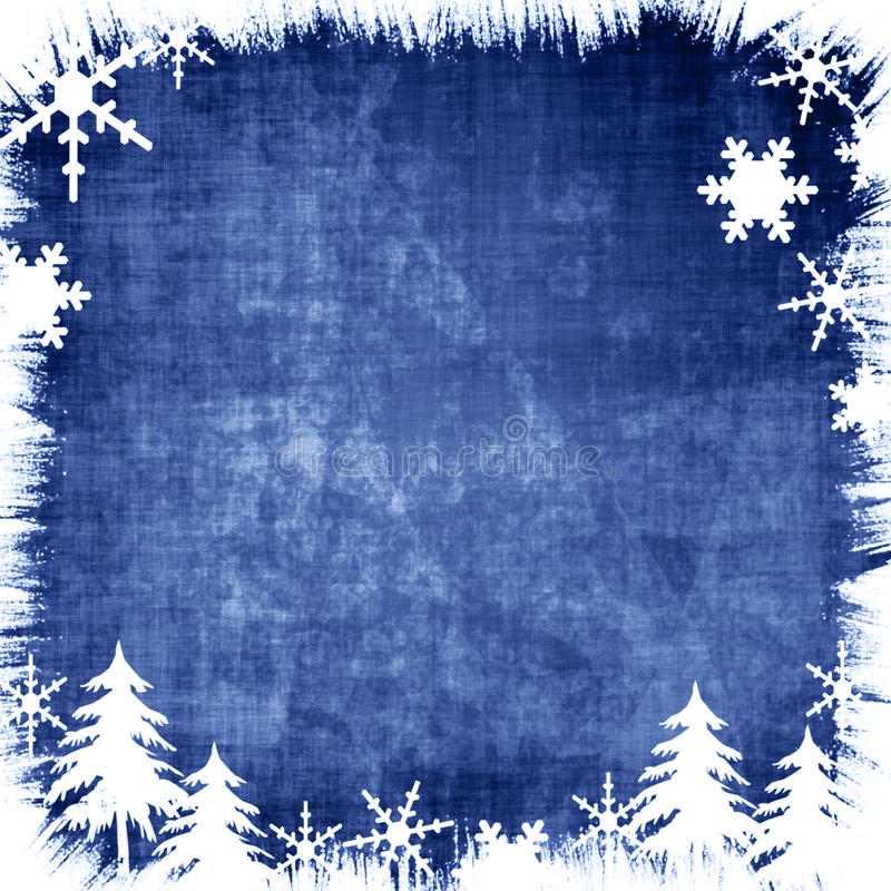 Grungy winter stock illustratie