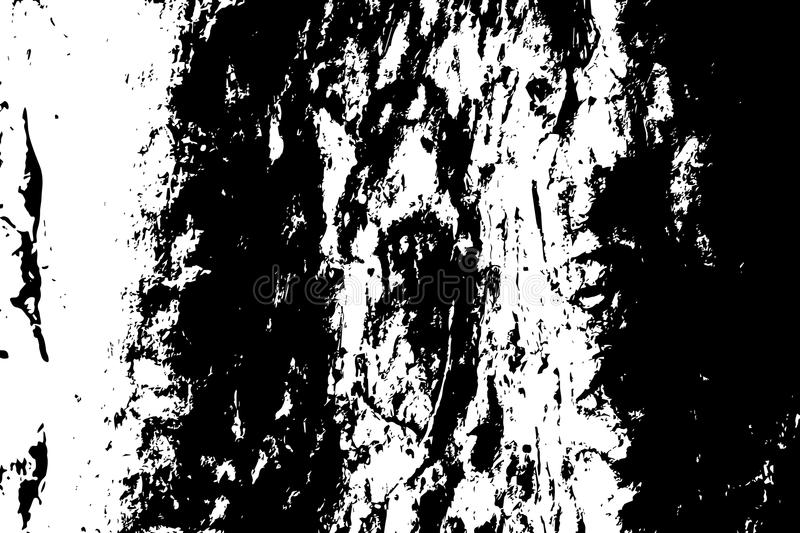 Grungy wooden texture. Distressed timber black and white texture. Rough tree bark surface. stock illustration