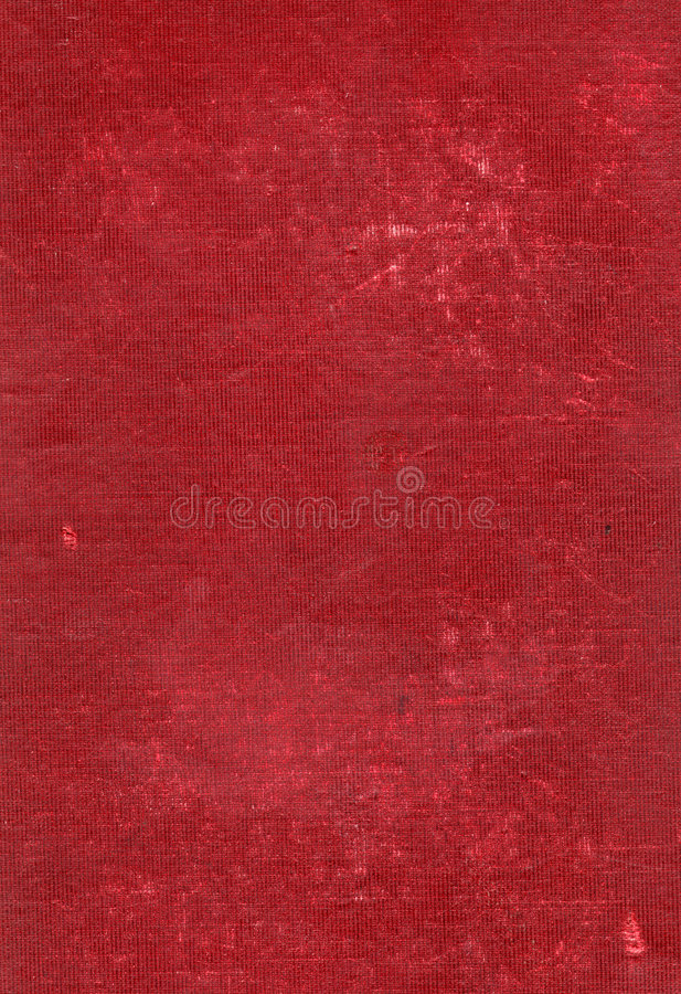 Grungy worn linen fabric. Red grungy worn linen fabric texture or background royalty free stock photos