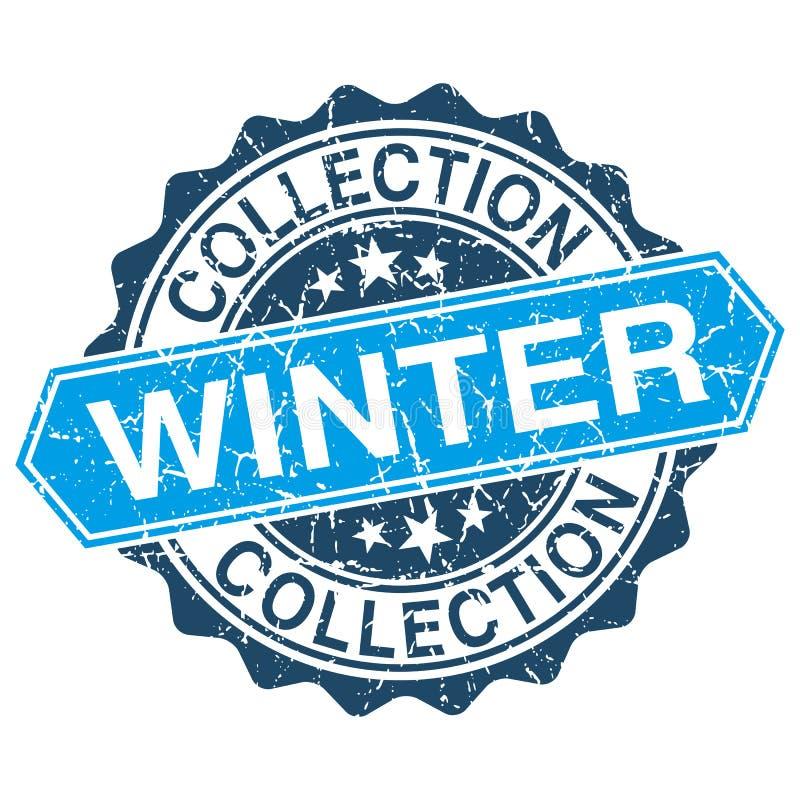 Grungy zegel van de de winterinzameling royalty-vrije illustratie